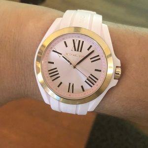 Michael Kors Silicone Bradshaw Watch with box